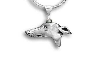 Sterling Silver Greyhound Lg Pendant