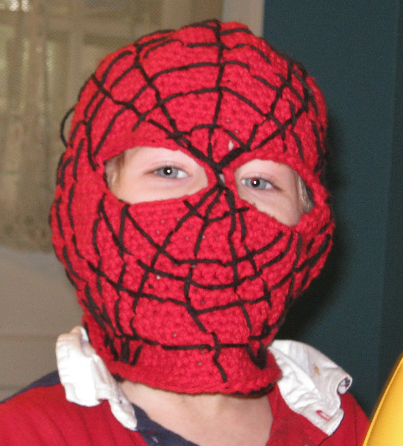 Crochet Pattern Spider-man mask, balaclava, hood, face mask from ...