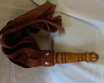 Handmade leather flogger