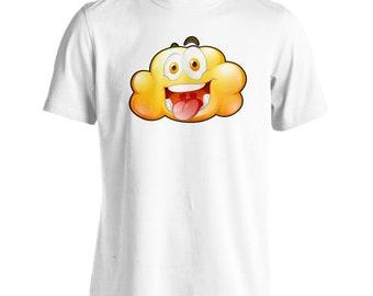 Yellow clouds Smiley Fun Men's T-Shirt u499m