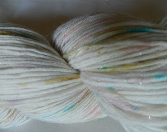 Hand dyed sparkle sock yarn 100g merino / nylon / stellina in Pixie Dust colourway