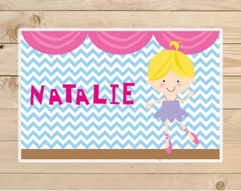 Ballerina-Kids-Placemats -A personalised-children's gift idea.