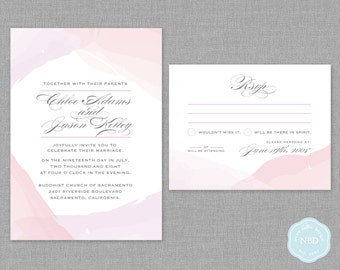 Unity Watercolor Invitation & RSVP Card [Printable | DIY | Digital File]
