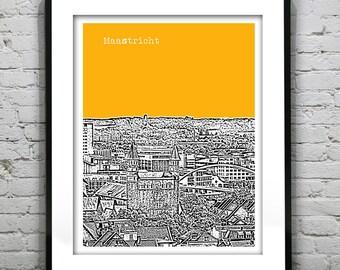Maastricht Skyline Poster Art Print