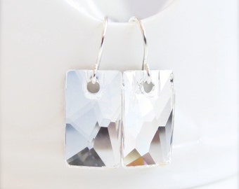 Clear Crystal Crystal Pendular Earrings - Evening - created with SWAROVSKI® Crystals