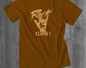 Rockin Climb T-shirt Rock Climbing Mountain Climbing Belay Approach Tshirt Bouldering T shirt Rock Climbing Gift Great Gift Ideas climbers