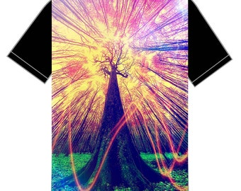 Customised Psychedelic surreal trippy nature 5 shirt