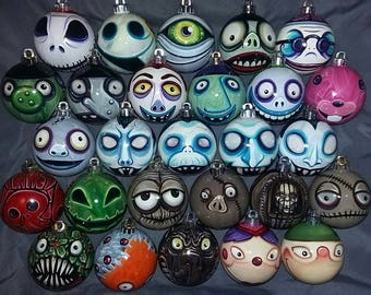 Any Character Nightmare Before Christmas Ornaments! Pick Your Favorite! Hand-Painted, Highly Detailed, Shatterproof, Made-to-Order