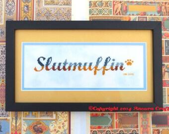 Slutmuffin Cross Stitch Pattern PDF