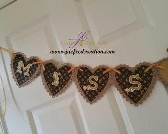 Miss To  Mrs  bridal shower banner