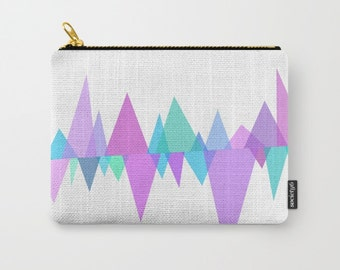 Pastel Carry All Pouch - Make-up Bag - Original Photograph- Pouch- Toiletry Bag - Change Purse - Organizing Bag - Made to Order