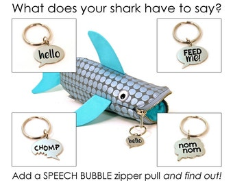 Choose one Zipper Pull - Fun Keychain - Hangry Foodie Zipper Pull - Hungry Speech Bubble Charm - Pet Tag - Food Lovers Gift - Ready to Ship
