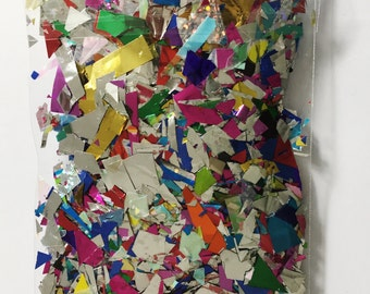 Mixed silver and colour foil confetti