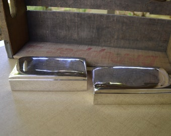 Set of two Poole Silver Cigarette Boxes