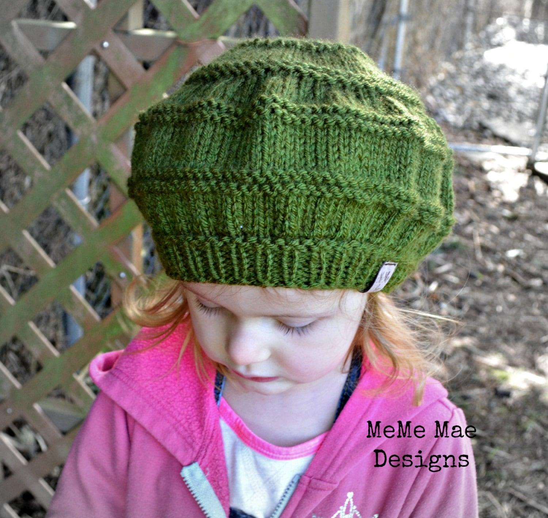 KNITTING PATTERN - Hat Pattern, Beret Hat Pattern, The Knitted Beret ...