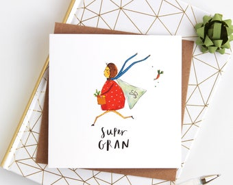 Super Gran Mother's Day Card for anyone with a great Granny or nan - Thank you card - Great Granny Card - nana card - Mother's Day grandma
