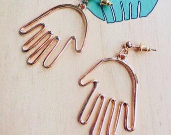 P S Y C H I C . P A L M   Boho Gold Drop Earrings