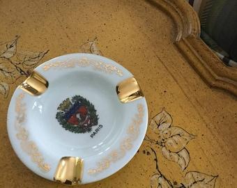 Porcelain Limoges Ashtray Paris France town arms