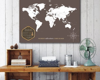 Park Map, State Park Map, National Parks Map, Tag Map, Themed Map Key // Personalized, Gallery Wrapped Canvas or Print // H-I23-1PS XX0