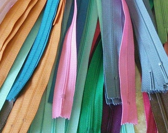 YKK, 8 or 25 Zippers YKK, SURPRISE, varied color, varied size, 12 cm - 65 cm, no 3, nylon, perfect for wallets, clothing, repair,