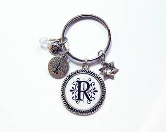 Monogram Keychain, Personalized Keyring, Star of David keyring, Hanukkah keychain, Personalized gift, Hanukkah gift, Custom keychain (8406)