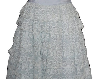 Vintage 1950s Prom Formal Dress Lots of Lace
