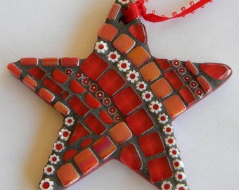 Mosaic Star Christmas Ornament, Mother's Day Gift, Teacher Gift, Christmas Star, Housewarming Gift, Ornament Exchange