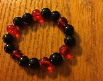 Black Friday Sale R.I.O.T. Black and Red Bracelet