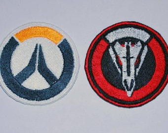 Overwatch & Blackwatch Emblem Cosplay Costume Patch