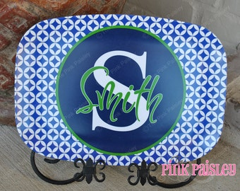 Personalized Monogram Platter | Monogrammed Serving Platter | Wedding Gift | Housewarming Gift | Mothers Day Present | Teacher Appreciation