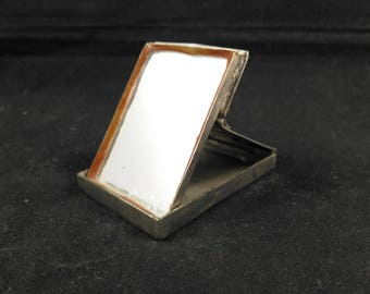 Make-up mirror pocket mirrorvintage mirror hand mirror small mirror purse mirror silver coloured mirror make-up, make up make-up mirror