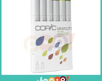 Copic Sketch Marker Set 6 Earth Essentials