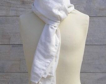 Foulard coton blanc