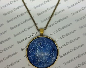 Doctor Who Inspired Gallifreyan Pendant Necklace