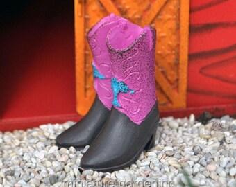 Cowboy Boots for Miniature Garden, Fairy Garden
