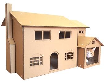 Simpsons Cardboard Cat House