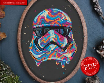 Star Wars Trooper Cross Stitch Pattern for Instant Download *P429 | Cross Stitch Pattern| Easy Cross Stitch| Counted Cross Stitch