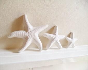 Starfish wall decor, family of starfish, nautical decor, starfish sculptures