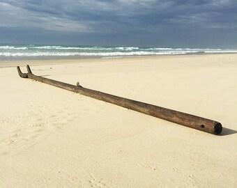 Old Timber Sailing Ship Bowsprit
