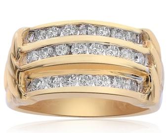 0.80 Carat Round Cut Diamond Ring 14K Yellow Gold