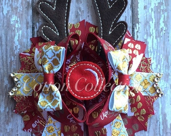 Rudolph the red nose reindeer, christmas bow, red christmas bow
