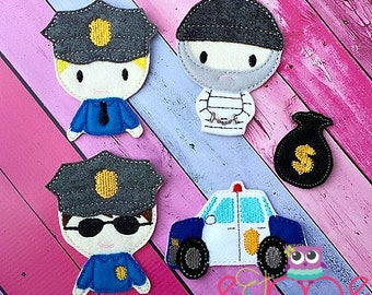 Cops And Robbers Finger Puppets