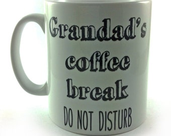 Personalised Coffee Break Do Not Disturb Mug Cup Gift Present Personalise With Any Text Name Message