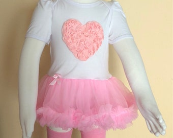 Heart baby set, photo shoot girl outfits
