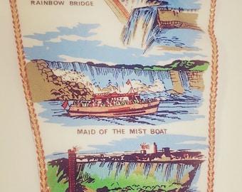 Vintage Niagara Falls New York Felt Souvenir Pennant Banner