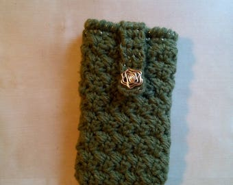 Hand-made wool mobile phone pouch pouch for smartphone pocket