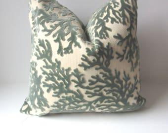 Aqua Coral Pillow Cover