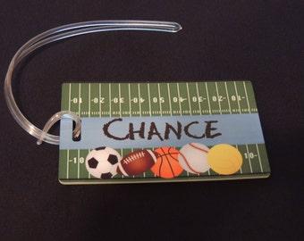 Personalized Football Luggage Tag Bag Tag