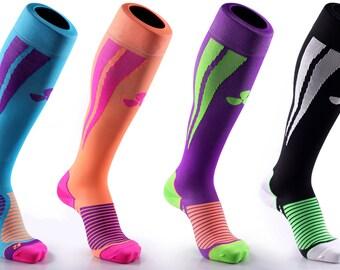 Samson® Compression Sports Socks Athletic Running Made in UK