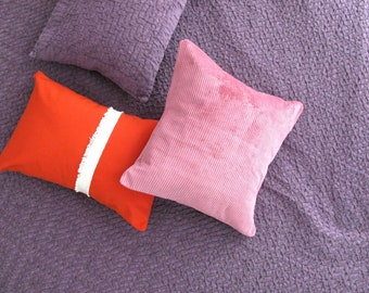 Pillow cord old Rose pink Retro